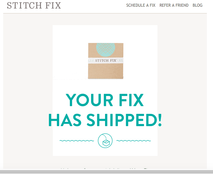Thank you notes: Thank you, Stitch Fix!