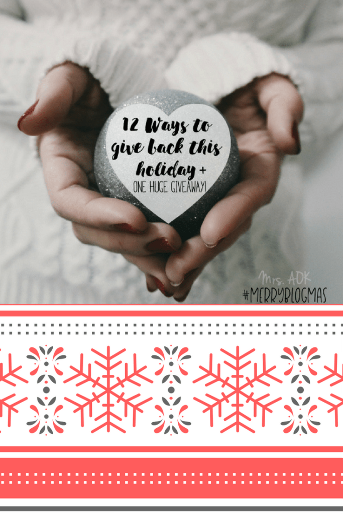 Day 1 of 12 Days of Blogmas: Today we're sharing ways to give back and we're also giving away!! Come check out how to be the good and win some really good prizes valued at OVER $800 + $150 in Paypal Cash
