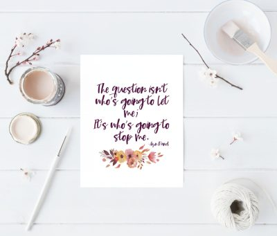 Gift guide for creative ladies: printable print from TWSS Quote Shop