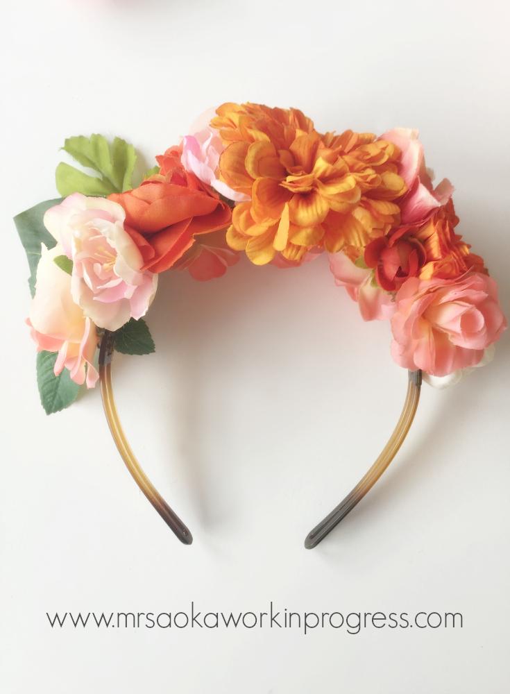 Get Your Frida On! DIY Frida Kahlo Inspired Flower CrownHeadband