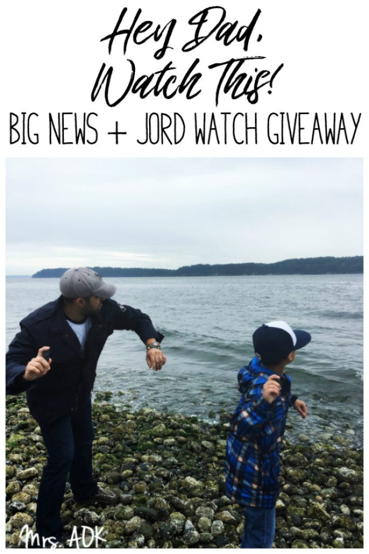 Watch This! I'm sharing some big news and we're celebrating with JORD Watch Giveaway!!