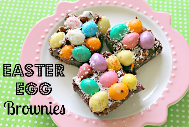 Easter egg brownies in thermomix 1