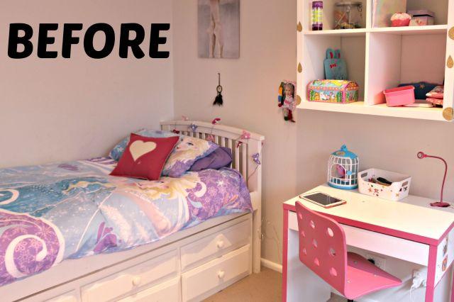 bubble spot girls bedroom make over - before