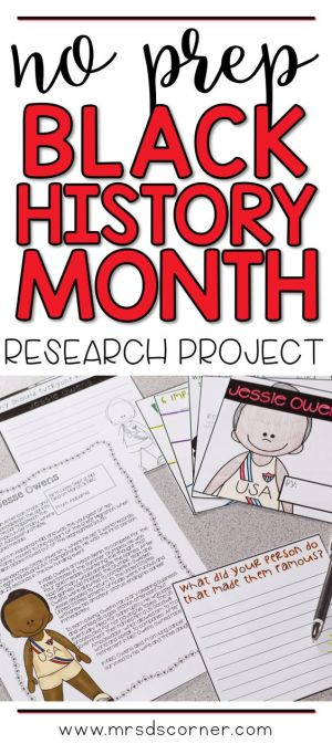 Celebrate Black History Month month by researching and learning about the journey of many important African American individuals who have helped shape history with an engaging research project craftivity. A blog post at Mrs. D's Corner