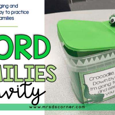word families activity blog post header crocodile crocodile