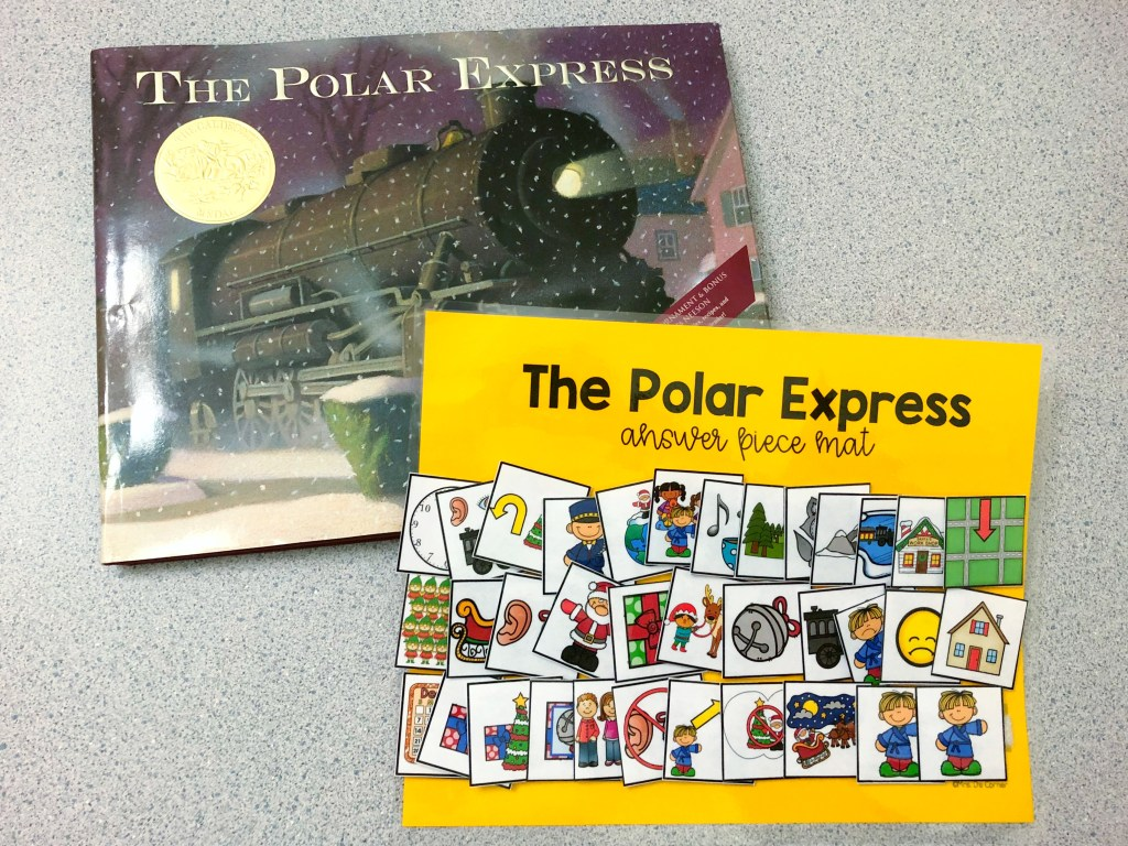 polar express activities - polar express adapted piece book set