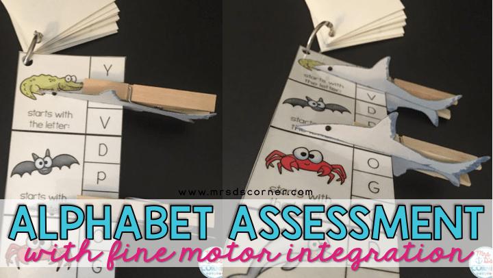 alphabet assessment with fine motor integration blog post header