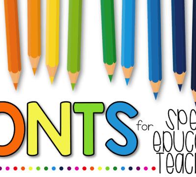 Fonts for Special Educators