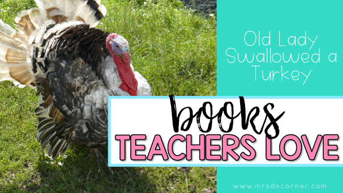 Book companion and free lesson ideas and activities for Old Lady swallowed a turkey