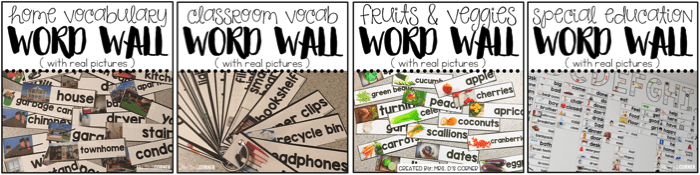 premade word wall sets