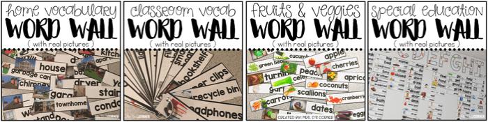 premade word wall sets