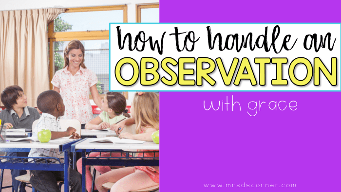 How to teach an amazing observed lesson Special Education Classroom Tools