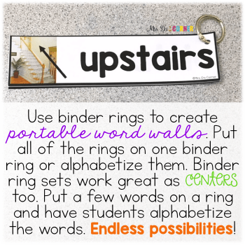 endless possibilities with words on binder rings