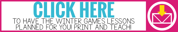 click here to have the winter games lessons planned for you. Winter Games unit of study for elementary students. 2 weeks of lesson plans and activities for the winter games olympics. winter games crafts.