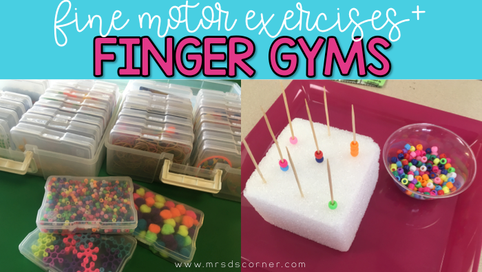 Finger Gym: Daily Activities for Fine Motor Exercises
