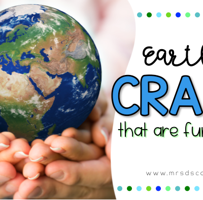 Earth Day crafts for any elementary classroom. 20 Earth Day crafts for students with special needs. Crafts that help practice and define fine motor skills, communication, and more! Blog post at Mrs. D's Corner.