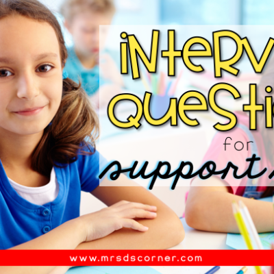interview questions for paraprofessionals and support staff header