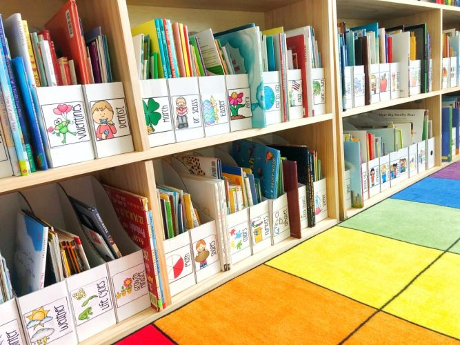 classroom library and organization tips blog header