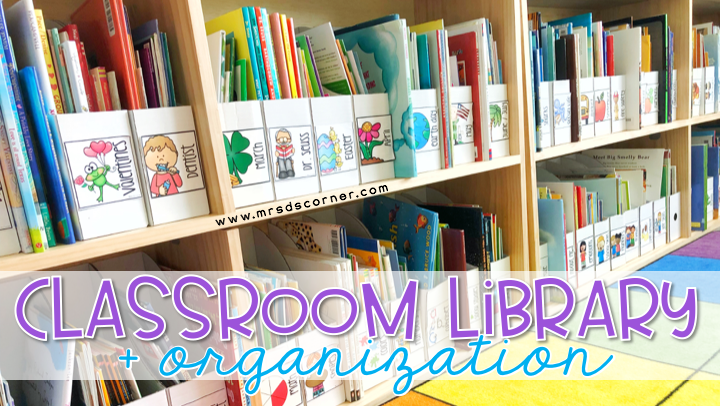 Classroom Library + Organization for Special Ed