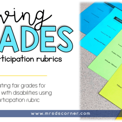 Grading Rubrics for special needs students. grading rubrics for students with disabilities.