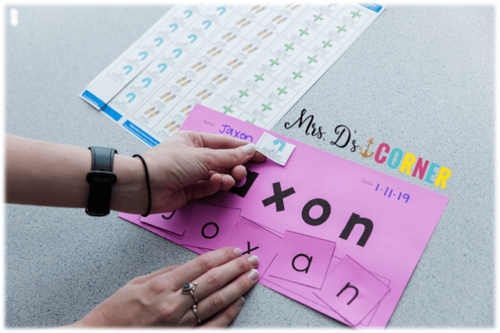 Placing a communication sticker on a student's assignment is simple and non-intrusive to the work, but gives adults a simple note about how the assignment was completed. Everyone is on the same page.
