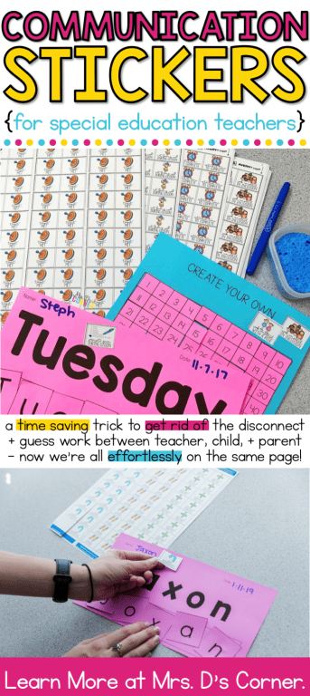 A time saving trick to get rid of the disconnect and guess work between teacher, child, and parent – now we're all effortlessly on the same page! An easy way to take data on all students as they work. Learn more at Mrs. D's Corner.