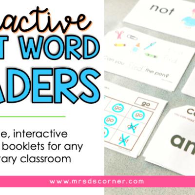 interactive sight word readers blog post header