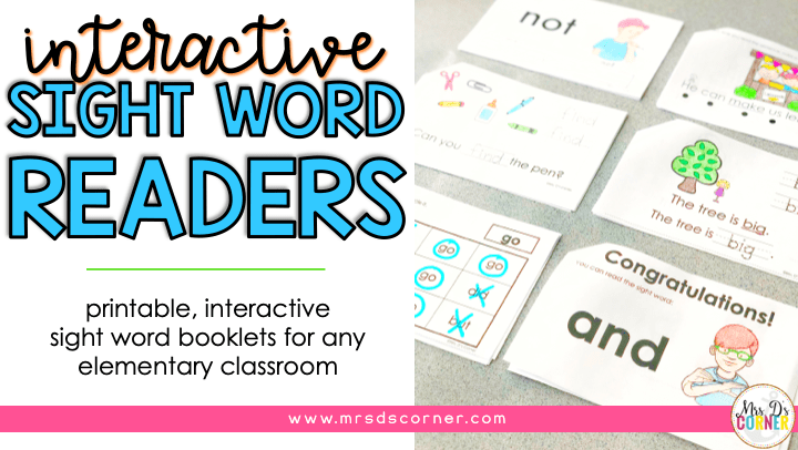 interactive sight word readers blog post header