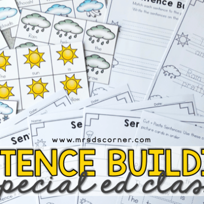 Sentence Building in special education classrooms blog header