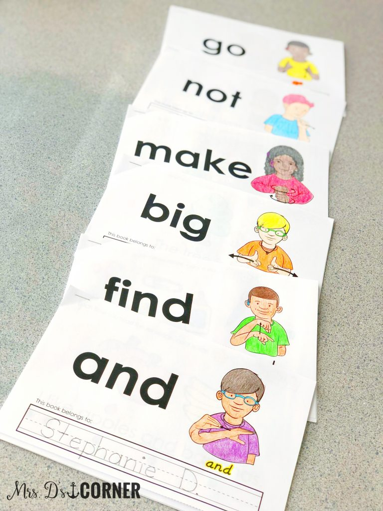 Dolch interactive sight word readers bundle at Mrs. D's Corner