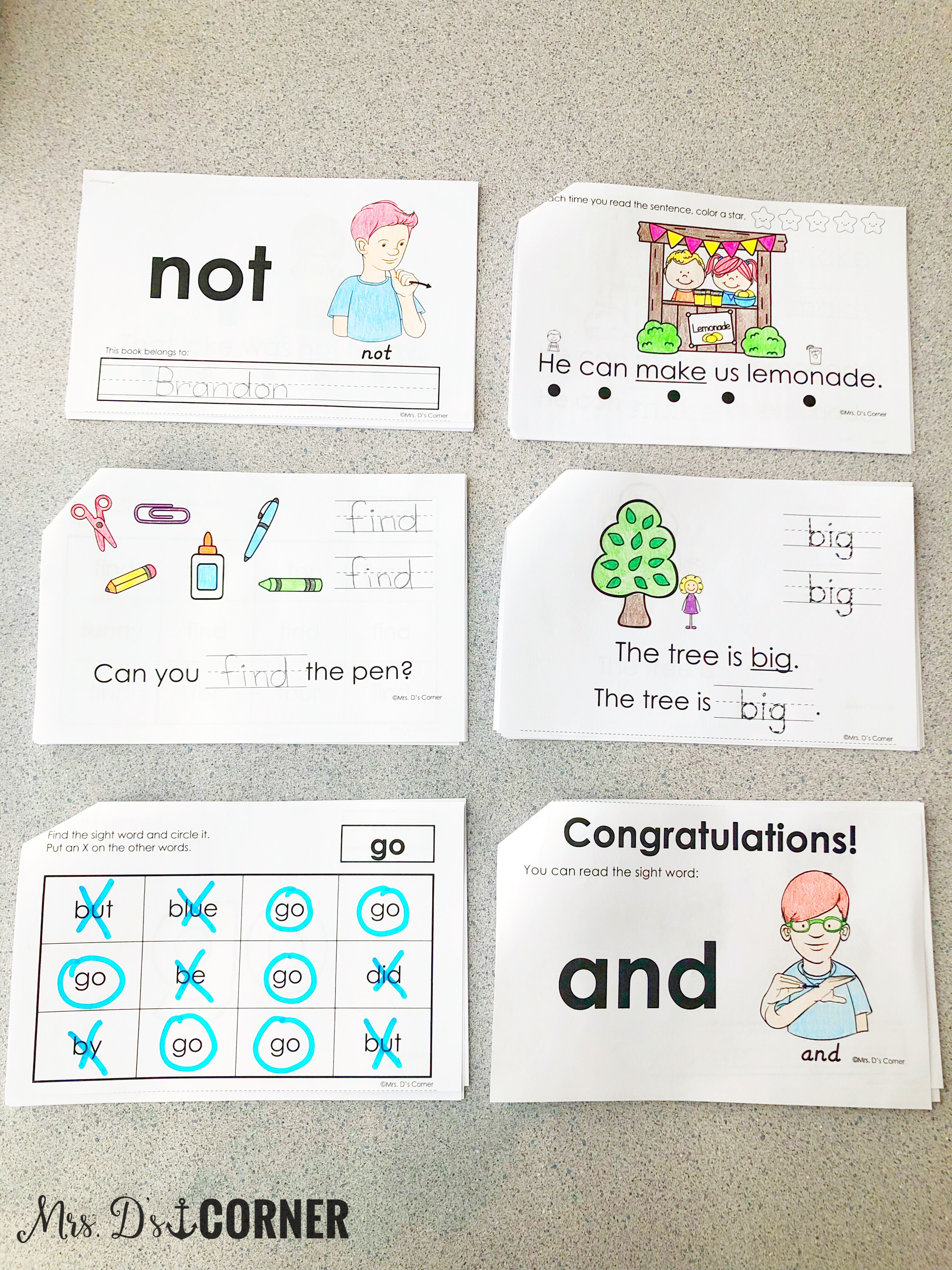 photo regarding Sight Word Book Printable named Printable, Interactive Sight Term Guides for Exclusive Ed - Mrs