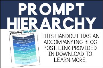 Prompt hierarchy printable PDF freebie at Mrs. D's Corner.