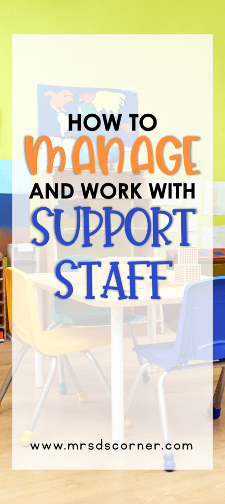 Managing support staff is important for teachers, but it's also essential for the relationships we have with our students. Teachers are not often taught how to manage paras in the classroom, but this struggle is no longer a problem. Read advice from veteran special education teachers on how to work well with the support staff and paraprofessionals in your classroom, like using a para binder!