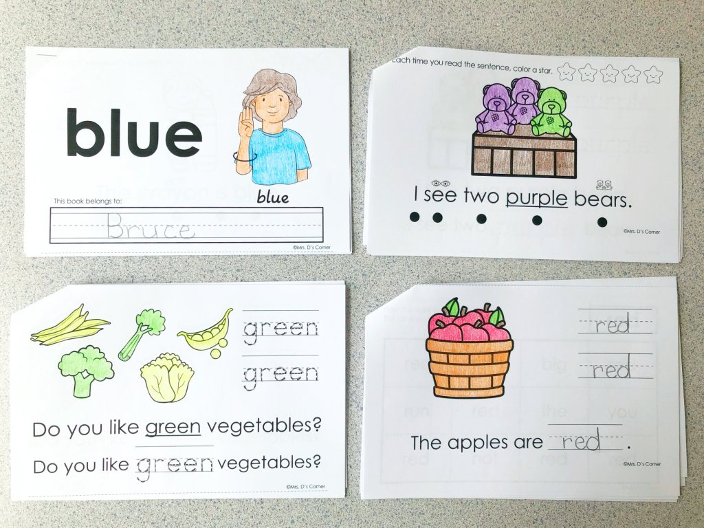 10+ Spelling Activities That Feel like Play - interactive sight word readers