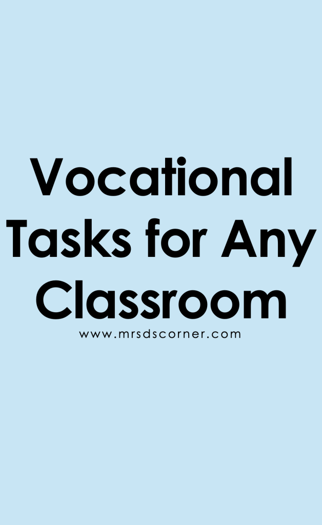 10 Vocational Tasks for Any Classroom Pinterest Image