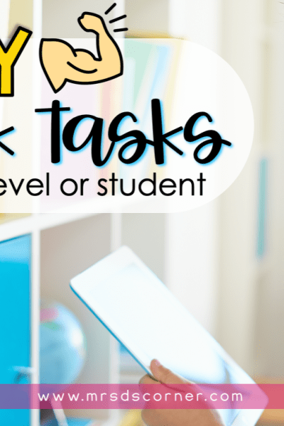 heavy work tasks for any classroom, home or student