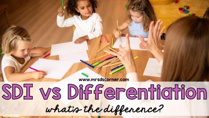 SDI vs Differentiation
