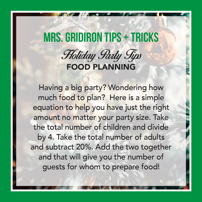 Tuesday's Tip: How Much Food?