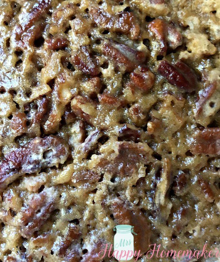 Crockpot Pecan Pie Cake