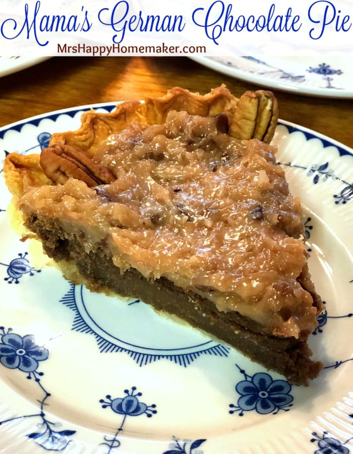 Mama's German Chocolate Pie