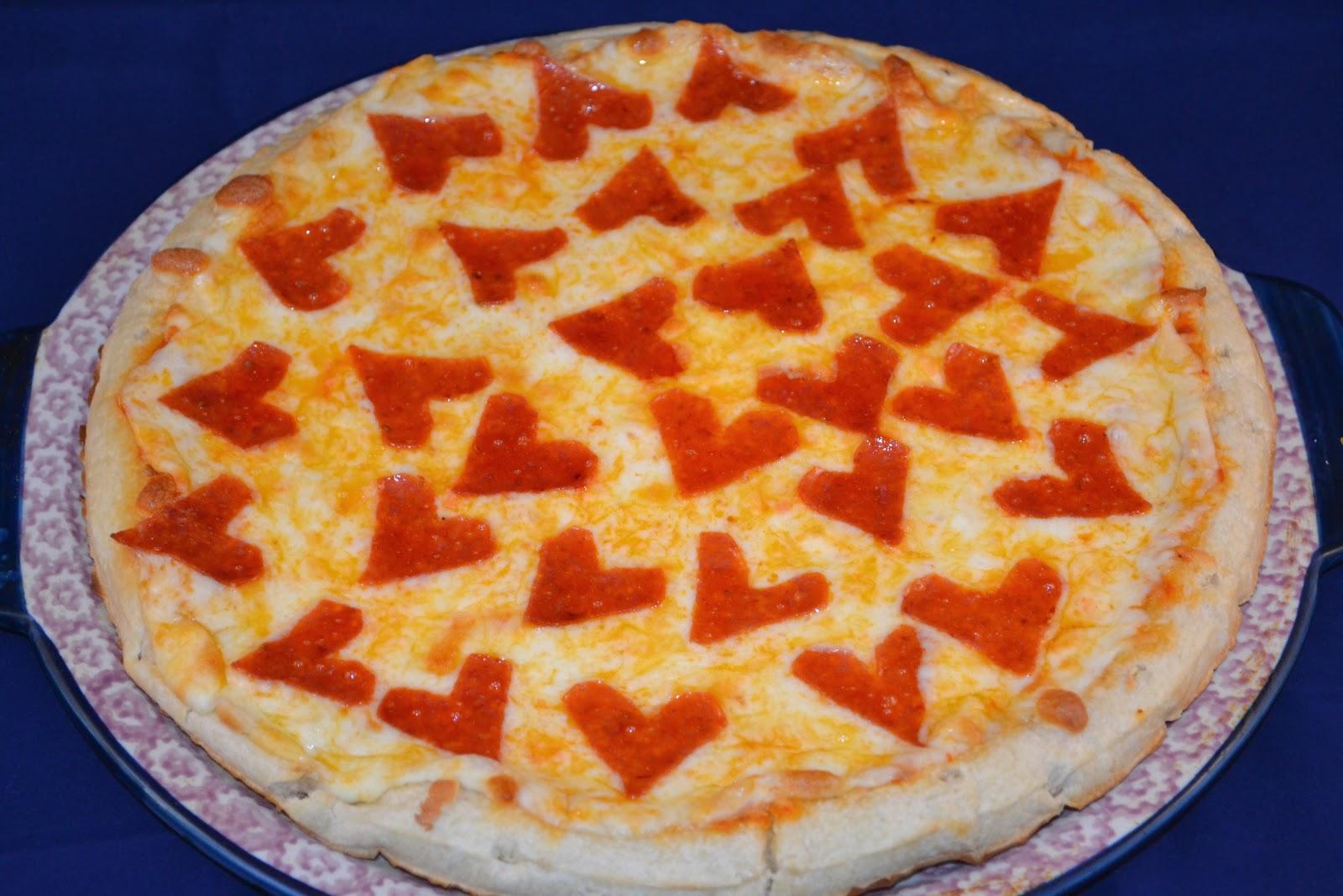 Heart Shaped Pepperoni Pizza Mrs Happy Homemaker