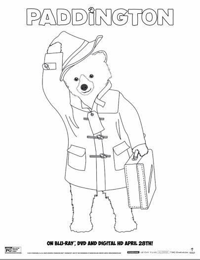 paddington bear coloring pages # 19