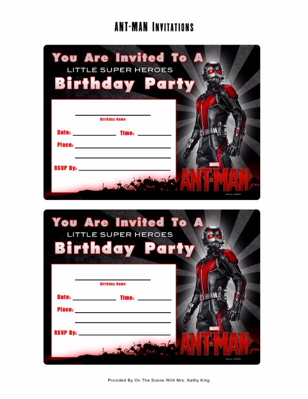 free marvel ant man printable birthday