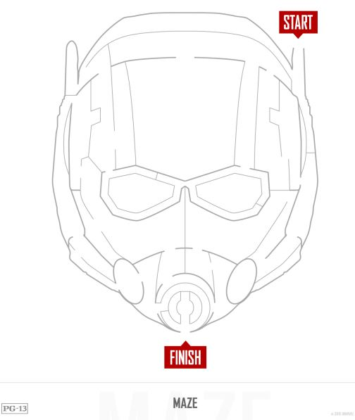 free antman mask &  antman printable activities #