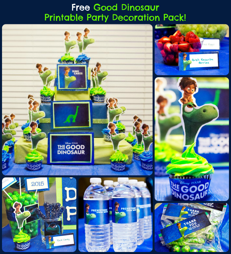 free good dinosaur printable party