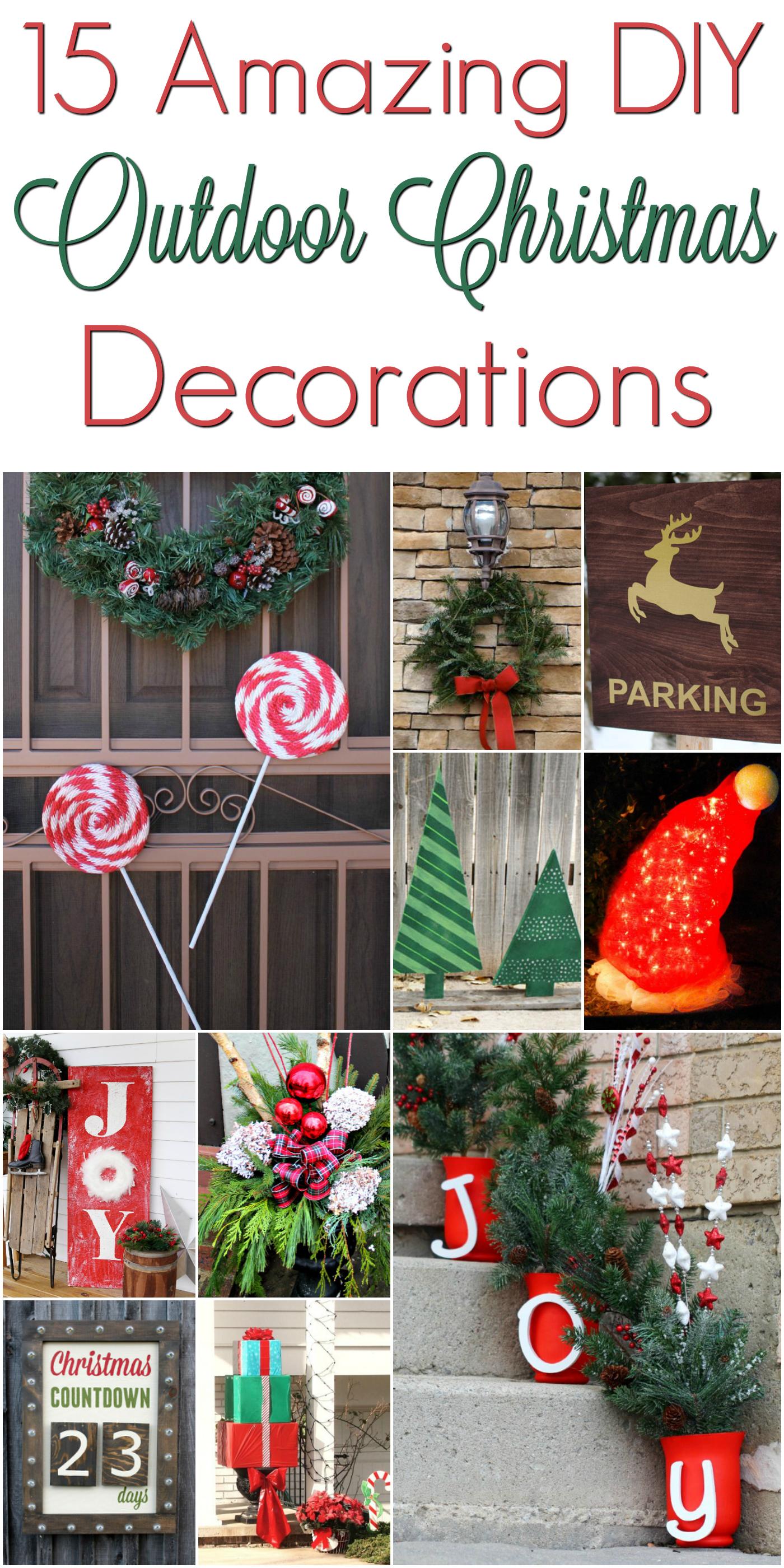 DIY Christmas Outdoor Decorations #ChristmasDecorations ... on Handmade Diy Garden Decor  id=89658