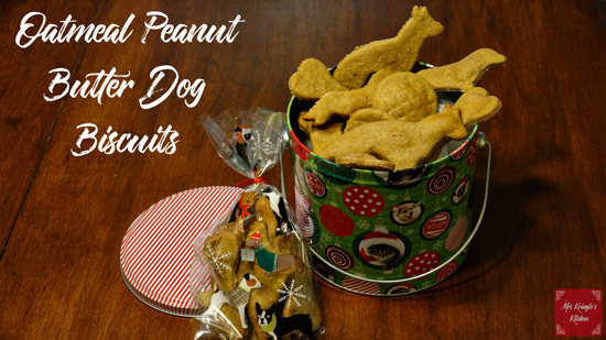 Oatmeal Peanut Butter Dog Biscuits