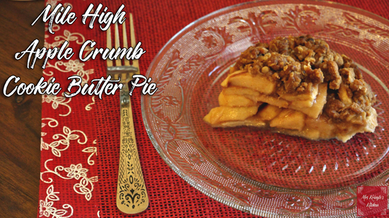 Mile High Apple Crumb Cookie Butter Pie