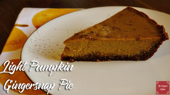 Light Pumpkin Gingersnap Pie