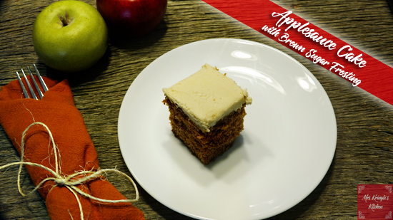Applesauce Cake with Brown Sugar Frosting
